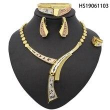Yulaili New Fashion Unique Necklace Dubai Jewelry Sets Nigerian African Women Zircon Wedding Jewellery Four Set цена в Москве и Питере