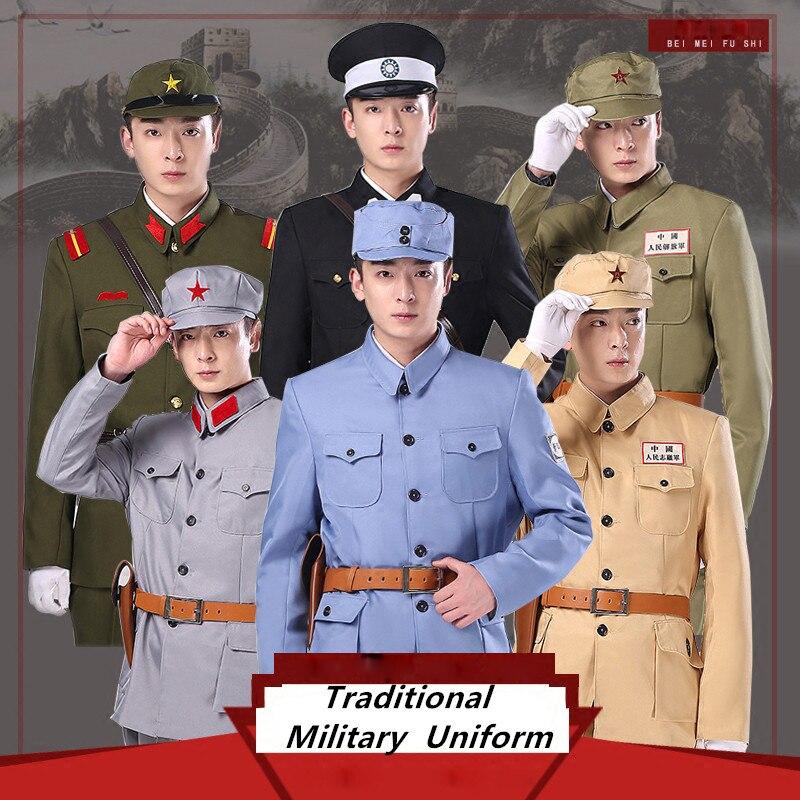 Guerre mondiale 2 volontaires du peuple Chinois vêtements Kuomintang armée police uniforme Japonais militaire Vêtements TV film drame uniforme
