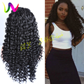 Lace Frontal Wig Synthetic Hand Tied Loose Curly Synthetic Lace Front Wigs African American Curls Synthetic Wigs For Black Women