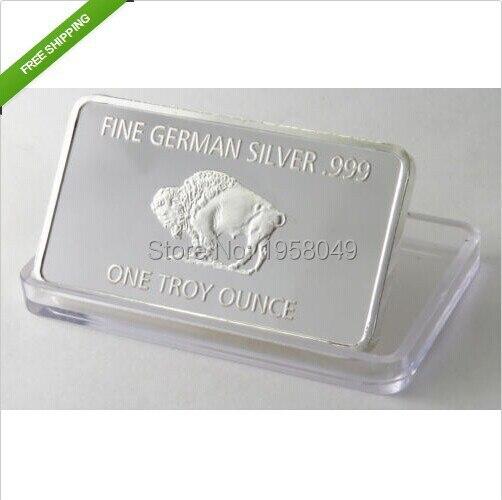 Free Shipping Wholesale Non Magnet 5pcs Lot 1 Oz 999 Fine