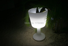 Color changeable Large LED LIGHT DRINK Illuminated Ice Buckets Waterproof slide design LED Light up champagne