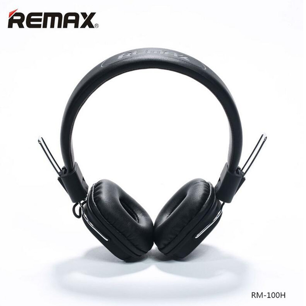 Remax RM-100H High Compatibility HiFi sound Headphone Stereo Music Earphone with Mic Headset Headband Type Smart Noise Reduction meizu hd50 headband hifi stereo bass music headset aluminium alloy shell low distortion headphone with mic for iphone samsung lg