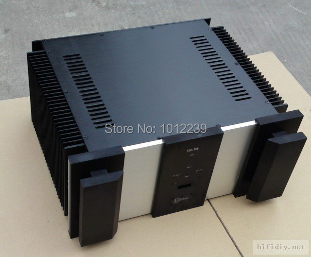 KSA50 aluminum power amp chassis/class A case/home audio amp chassis /large aluminum amp chassis size 480 X224 X424 mm