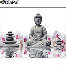 DIAPAI Diamond Painting 5D DIY 100% Full Square/Round Drill Buddha stone Diamond Embroidery Cross Stitch 3D Decor A24455 diapai 5d diy diamond painting 100% full square round drill text moon buddha diamond embroidery cross stitch 3d decor a21533