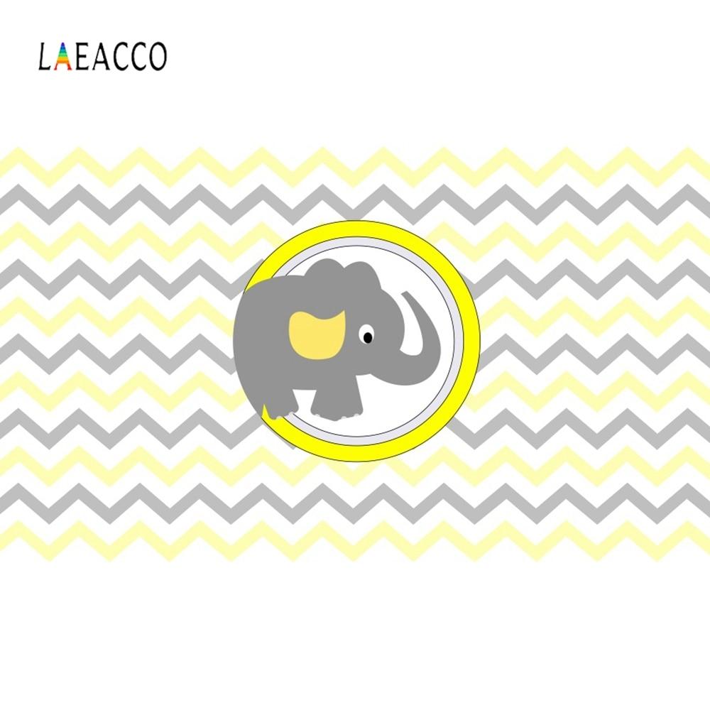 Laeacco Cartoon Elephant Backdrop Newborn Baby Show Portrait Photography Background Photographic For Photo Studio