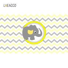 Laeacco Cartoon Elephant Backdrop Newborn Baby Show Portrait Photography Background Photographic For Photo Studio