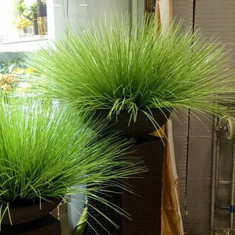 64cm Artificial Leave Simulation Leaf Onion Grass Silk Flower Decoration Flower Arranging Lawn Engineering Simulation Plants