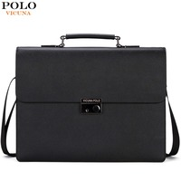 VICUNA POLO New Arrival 2017 Business Mens Briefcase Unique Anti Theft Lock Male Laptop Bag Bolsa