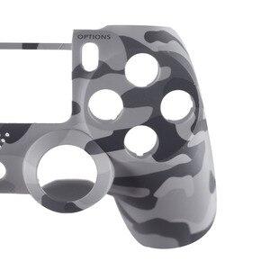 Image 4 - מול דיור פגז פנים מקרה כיסוי עור מגן Camo עליון עבור Sony פלייסטיישן 4 PS4 DualShock 4 V1 בקר הסוואה