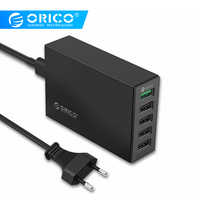 ORICO QSL-5U 5 Ports QC 2.0 5V8A40W Max Desktop USB Quick Charger with EU or US Plug for iPhone Samsung S6 SONY HTC