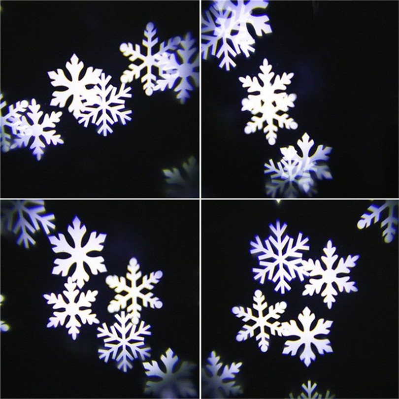 huge discount 6166b 848c7 US $21.34 50% OFF RGB LED Snowflake Lights Waterproof Outdoor Moving  Snowflake Display on House Outside Wall Light Landscape Projector  Lighting-in ...