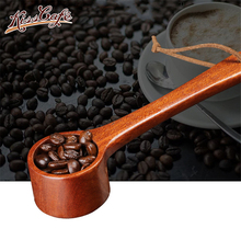 1Pcs Natural Wood Coffee beans  Spoons Scoop For Tea Small Sugar Salt Flatware Tools Kitchen Supplies