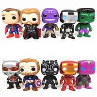 FUNKO POP 10pcs/set Avengers Super Hero Characters Model Vinyl Action Figures anime figure toys for children Description