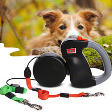 3m Automatic Retractable Walking Double Lead Leash Dog Traction Rope For Pet Outdoor Supplies Small Large Dogs