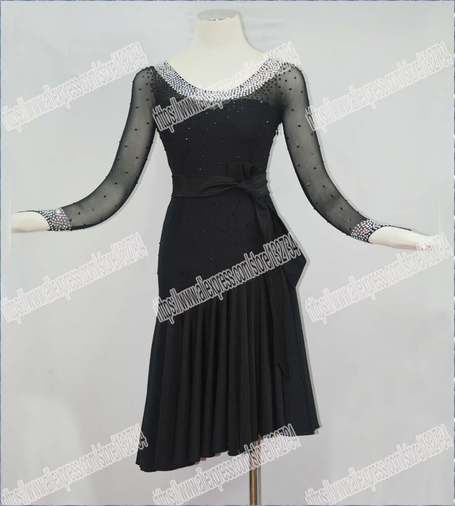 Костюм для латинских танцев, сальса, танго, Румба, ча ча, для современных упражнений, для бальных танцев, для женщин, мини платье для латински