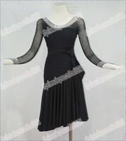 Latin Salsa Tango Rumba Cha Cha Costumes Modern Exercise Ballroom Swing Dance Women Mini Latin Skirt Dress Latin Dance LD 0038