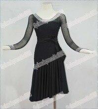Latin Salsa Tango Rumba Cha Cha Costumes Modern Exercise Ballroom Swing Dance Women Mini Latin Skirt Dress Latin Dance  LD-0038