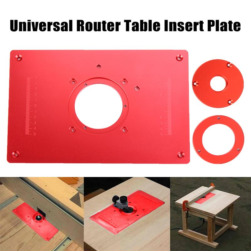 Universal Router Table Insert Plate Aluminium Alloy For DIY Woodworking Engraving Machine 200x300x10mm new woodworking diy tools heavy duty router lift with aluminium router insert plate jf1168