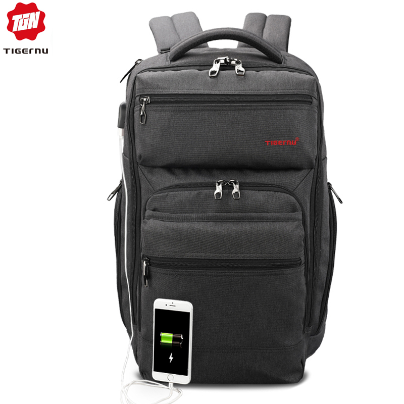 Tigernu Brand 29L Anti Theft Men Fashion USB Charger Male Mochila 15 6inch Laptop Bag Backpacks