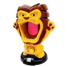 Air Pump Shoot Electronic Scoring Dynamic Music Eva Foam Ball Funny Novel Toys For Children Toy,Lion