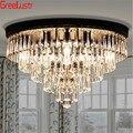 Роскошные круглые Европейские хрустальные Современные светодиодные люстры для гостиной спальни AC85-265V lustre lamparas потолочные светильники