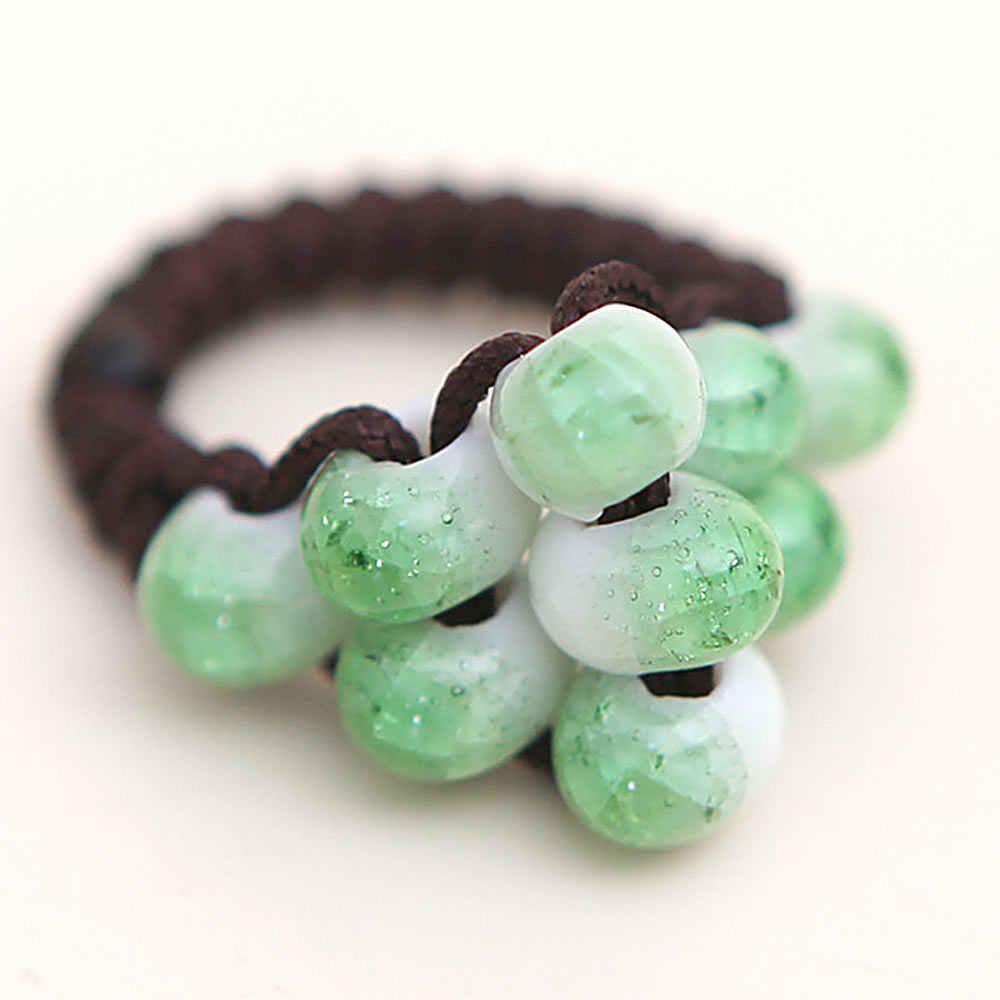 Featured Porselein Bead Ring Vintage Stijl Keramische Sieraden Sieraden Paar Ring Geschikt Voor Cadeau Geven