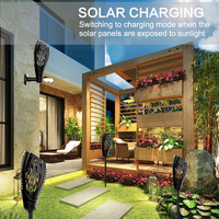 Solar Flame Flickering Garden Lamp LED Fire Flame Light Outdoor Lawn Lamp Solar Powered IP65 Waterproof Solar Torch