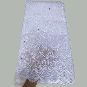 Image 4 - Merletto svizzero del voile 100% cotone tessuto del merletto Nigeriano tessuto africano per abito da sposa 5 yard/lot 5815