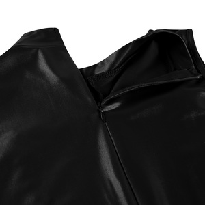 Image 5 - Wetlook 파티 Clubwear 에로틱 란제리 Bodystocking 특허 가죽 스탠드 칼라 지퍼 흉상과 가랑이 레오타드 바디 슈트