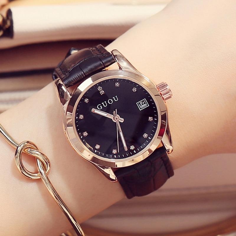 heta enkla snygga Top Luxury varumärke Guou Klockor Kvinna - Damklockor
