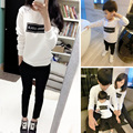2016 new family matching outfits dad/mom/child cotton letter long sleeve t-shirt family causal clothes dad tops mom/child tee