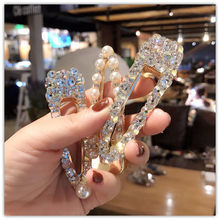 1Pcs New Fashion Women Pearl Diamond Hair Barrette Clip Styling Tools Accessories Crystal Hairpin