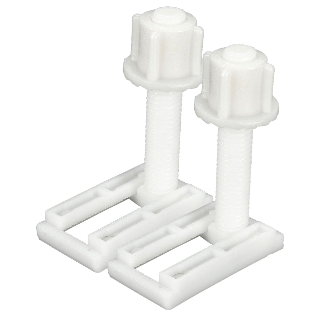 2pcs DIY Plastic Toilet Seat Screws Fixings Fit Toilet Seats Hinges Repair Tools Type&Size:5# 4.4X2.4Cm