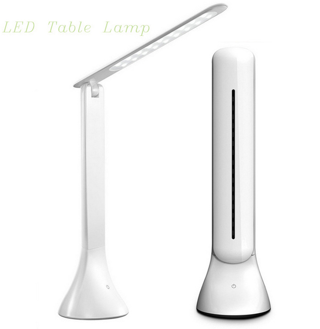 Vioslite LED Desk Lamp Dimmable Touch Book Light USB Charging Reading Light Chargeable Table Lamp Portable Folding Lamp