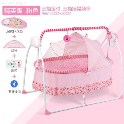 Cribs electric shaker multifunction cradle baby with mosquito nets shake the sleeping basket Обои
