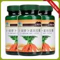 3 botellas de 500 mg * 60 cápsulas Beta caroteno cápsula blanda de Salud y suplementos nutricionales