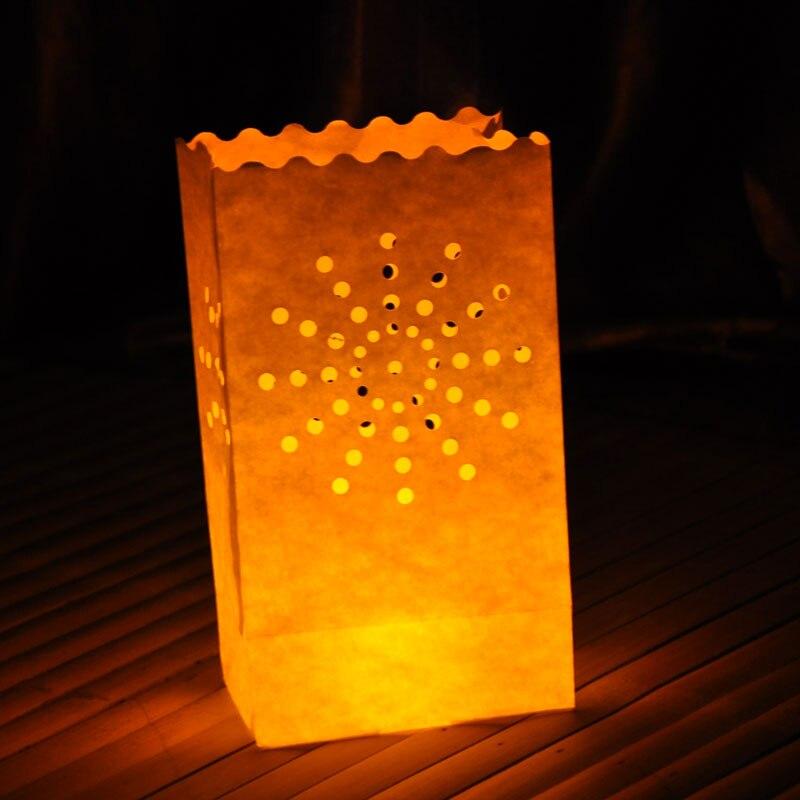 dise/ño de fuegos artificiales 10 unidades Luminaria papel bolsas decorativas para velas