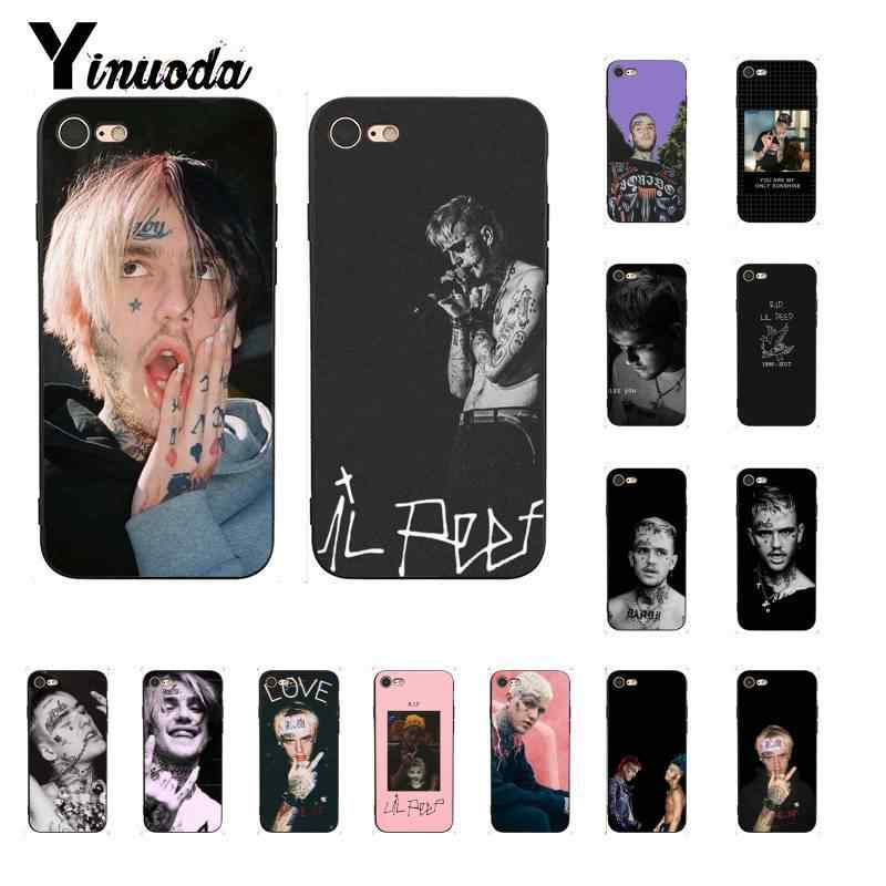 Yinuoda lil peep lil bo peep 소프트 실리콘 tpu iphone 8 7 6 6 s 6 plus x xs max 5 5 s se xr 10 11 11pro 11promax