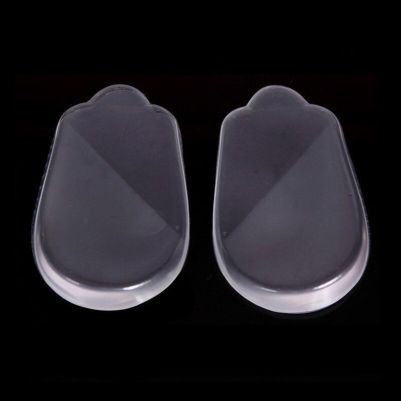 2Pair Wholesale Silicone High Heel Half Insole Shoe Pad Invisible Half Foot Pad Feet Cushion Gel Soletta Heel Almofada
