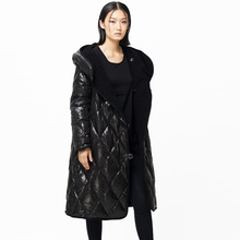 LYNETTE'S CHINOISERIE – Qing Chen Winter Original Design Women Reversible Formal Casual Long Hooded White Duck Down Jacket Coat