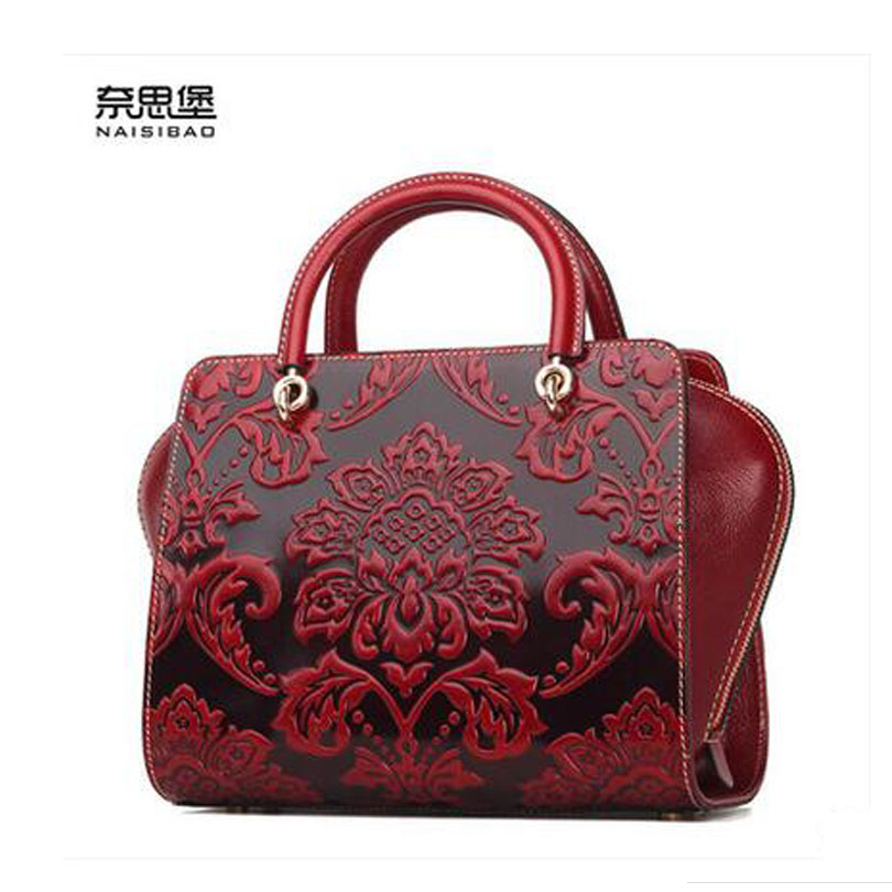 Famous brand top quality Cow Leather women bag Fashion handbags Retro embossed shoulder messenger bag Royal package famous brand top quality cow leather women bag 2015 new retro chinese style handbag embossed shoulder messenger bag