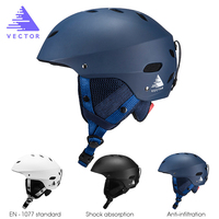 VECTOR Professional Adjustable Ski Helmet Ultralight Protective Ski Helmet Skating Sport Helmets Snowboard Skiing Skating Helmet