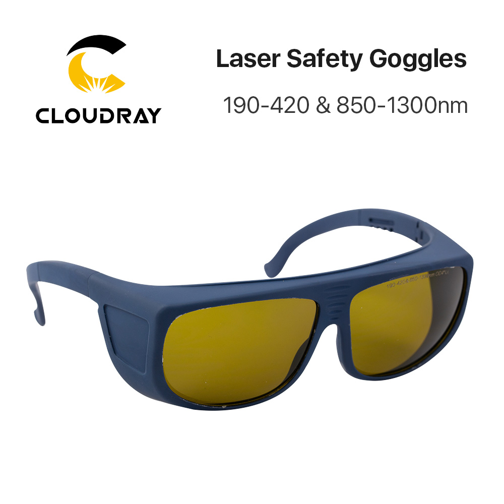 Cloudray 1064nm Laser Safety Goggles 850-1300nm OD4+ CE Protective Goggles For Fiber Laser Style E