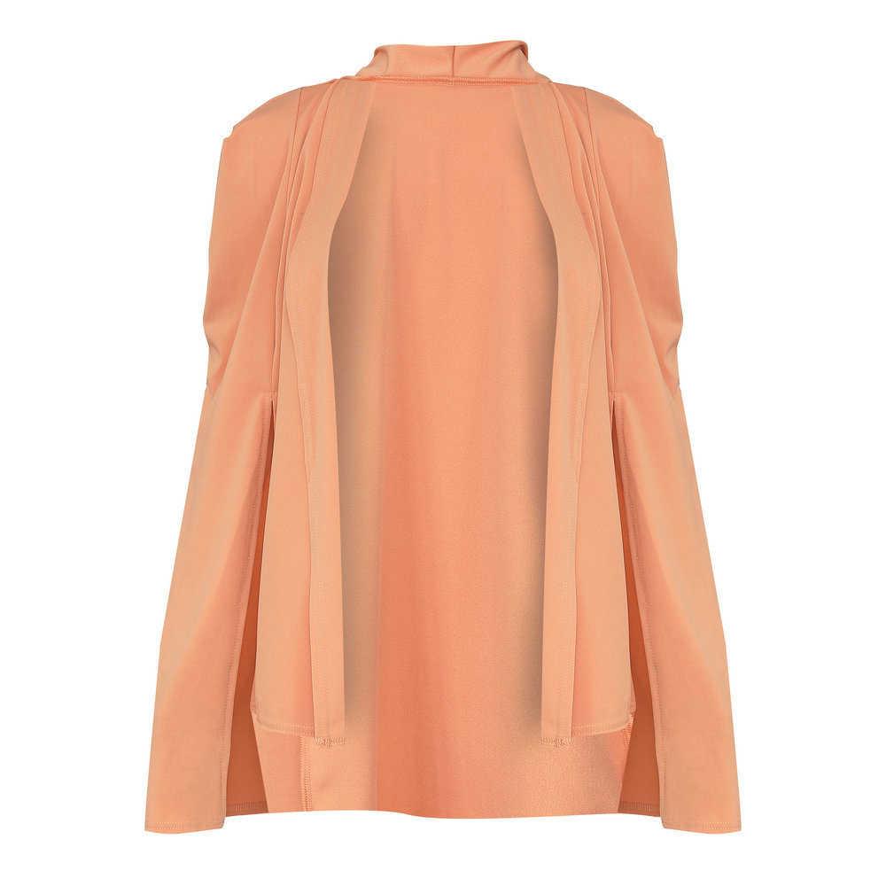 Automne printemps manteau Blazer manteau femmes revers fendu Cape Cardigan veste costume femme formelle OL vêtements de travail noir manteaux WDC1506