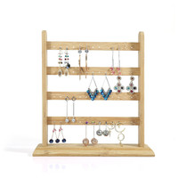 Solid Wood Earrings Display Holder Jewelry Display Frame Earrrings Display Stand