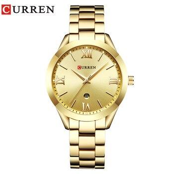 CURREN Simple  Fashion Stainless Steel Analog Quartz Wrist Watch Calendar Female Dress Watch Women Clock Relogio Feminino 6