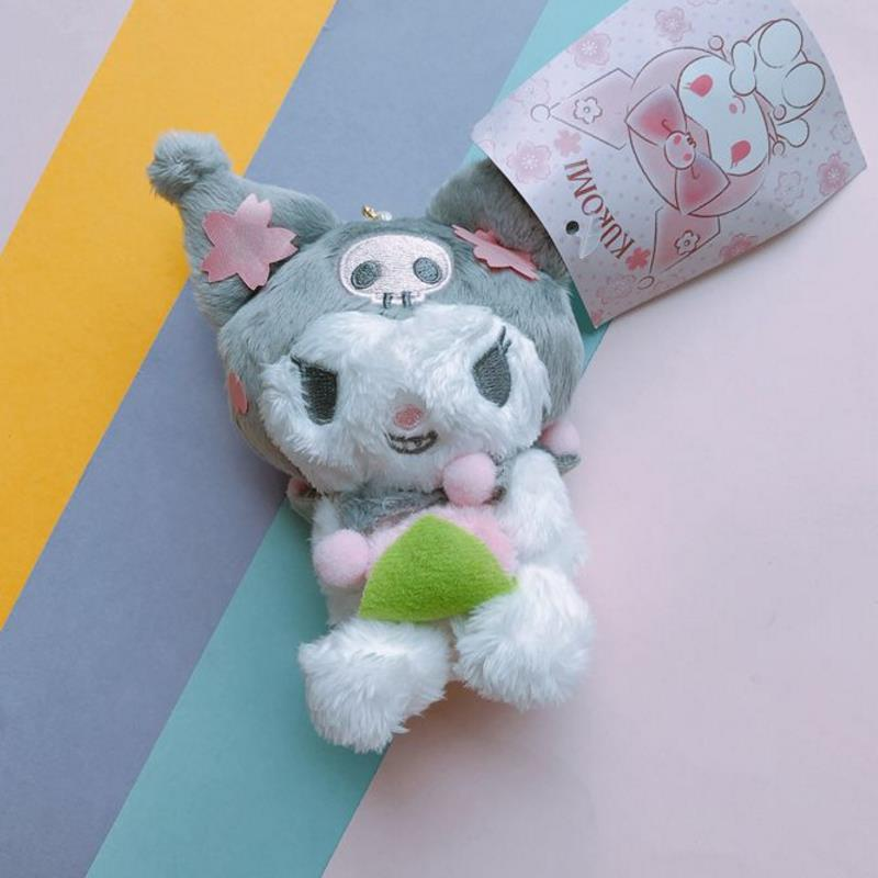 1 Pc Pretty Cartoon Cherry Blossoms My Melody Pudding Dog Kuromi Stuffed Plush Pendant Doll Toys Gift