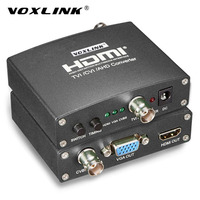 VOXLINK AHD TVI CVI CCTV Camera Analog Signal To HDMI VGA CVBS Converter 720P 1080P Full