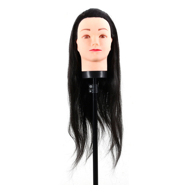 Hairdressing Mannequin Head Practice Training Dummy Manikin Wig Stand With Clamp