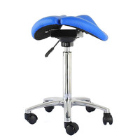 A,Comfortable Adjustable Saddle Stool Seat Furniture Ergonomic Medical Office Saddle Chair Rolling Swivel Chair for Home Dental